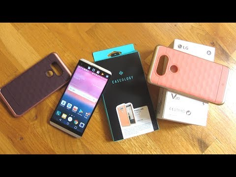 LG v20 Slim Case and Glass Screen Protector | Slim Caseology Parallax Series