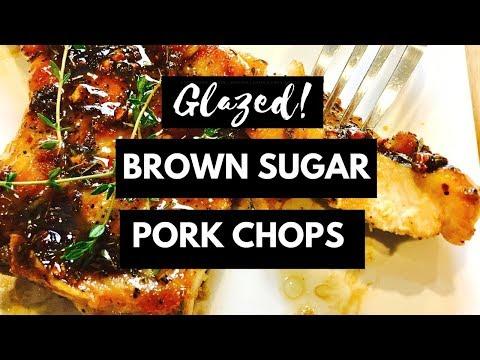 Glazed Brown Sugar Pork Chops Recipe | DinnerThymeWithApril