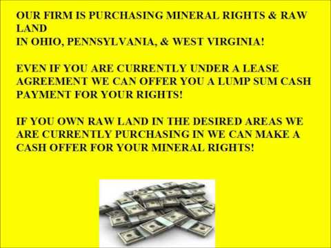 WE BUY MINERAL RIGHTS IN OHIO, PENNSYLVANIA, WEST VIRGINIA