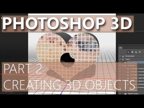 3D in Photoshop CS6 - 02 - Creating 3D Objects