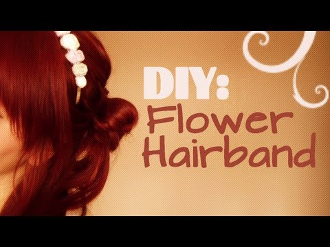How to make DIY Flower Hairbands using Leftover Fabric