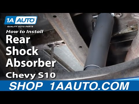 How To Install Replace Rear Shock Absorbers Chevy S10 Pickup Truck GMC S15 Sonoma 1AAuto.com