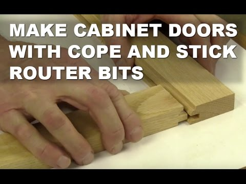Using Cope and Stick Router Bits for Cabinet Doors