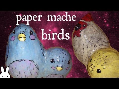 DIY: Paper Mache Birds Using Easter Eggs