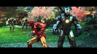 Download Iron Man and War Machine vs. Hammer Drones - Iron Man 2 Video