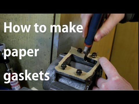 How to: 3 ways to make a gasket using gasket paper, duh.