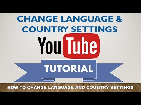 How To Change language and country settings In Youtube