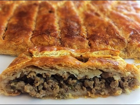 Puff pastry meat pie.
