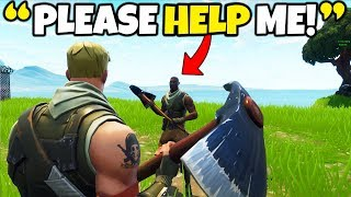 """THE """"YOUNGEST"""" FORTNITE PLAYER EVER!! (Helping Little Kid WIN in Fortnite)"""
