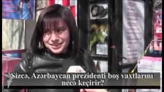 İlham Əliyev boş vaxtlarını necə keçirir?  Bakı sakinlərindən soruşmuşuq.  Sorğu: Sizcə, Azərbaycan prezidenti boş vaxtlarını necə keçirir?