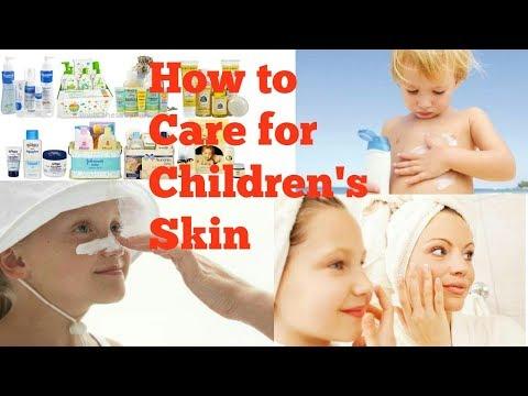 Skin care routine for children|| how to take care of children skin|| school going children