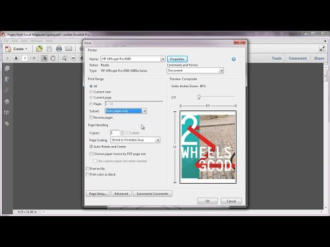 Printing in Acrobat X: Printing Double-sided Duplex