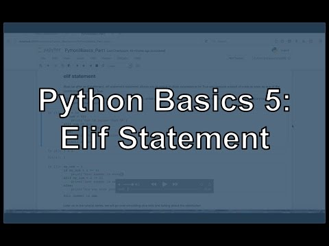 Python Elif Statements