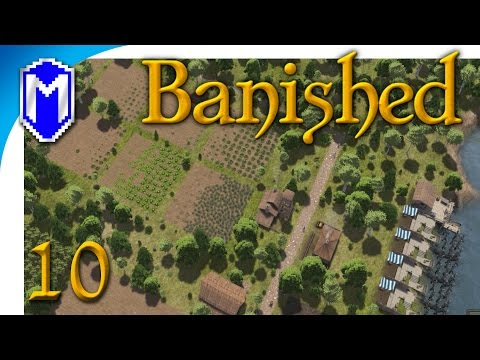 Banished - Optimizing Our Crop Fields, Best Farm Size - Let's Play Modded Banished Gameplay Part 10