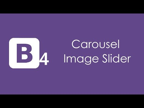 Bootstrap 4 Carousel Image Slider - HTML5 and CSS3 Tutorial