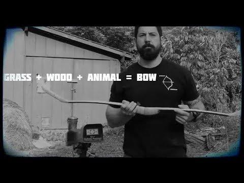 Sunday speed testing, primitive bamboo horsebow - Mead longbows