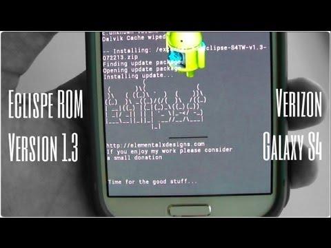 ROM Eclipse Version 1.3 Touchwiz with AOSP Styling Verizon Samsung Galaxy S4