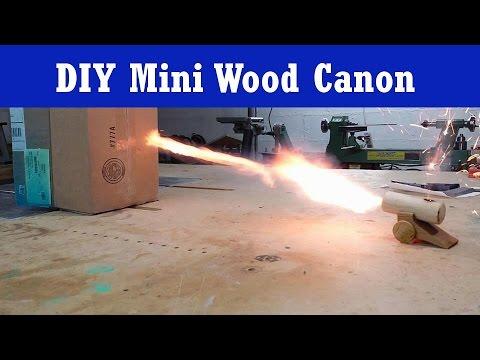 DIY Mini Wood Canon