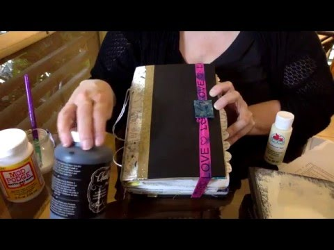 Easy How To Make Junk Journal  Using An Old Book Cover