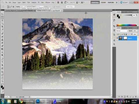 Making a fading transparent picture using Photoshop CS5