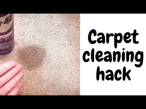 WD-40 carpet cleaning