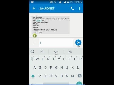 jio trick Data  usage & sms balance check by  sms