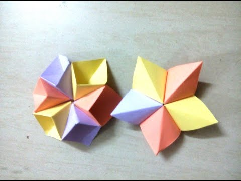 DIY: How to make 5 pointed / 6 pointed star - Origami for Kids