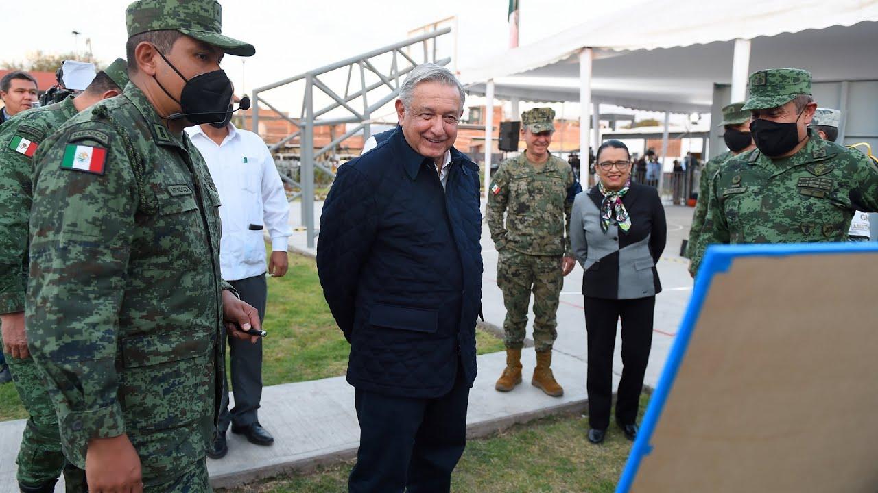 Inauguración de instalaciones de la Guardia Nacional, desde Zamora, Michoacán