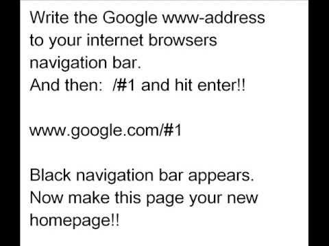 GOOGLE BLACK NAVIGATION bar back  Simple instruction