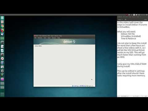 Install Debian 9 GNOME in a VirtualBox