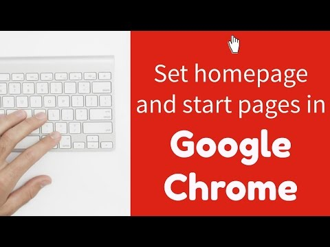Changing your start page(s) and homepage in Google Chrome