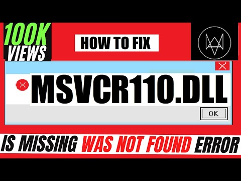 ✓✓✓ How To Fix msvcr110.dll Missing Error Windows 10/8.1/7