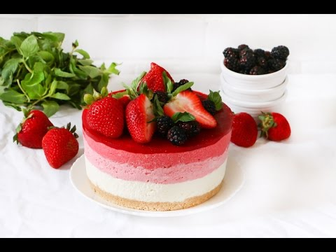 How to make a Strawberry Ombre Cheesecake ♥ Chokolat Pimienta