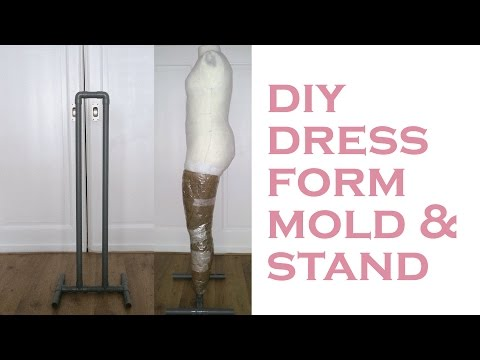 DIY Body Double  Dress Form (part 1/4) : making a dress form mold & stand