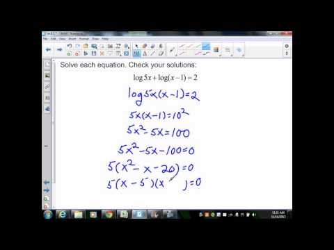 sec8 5 Alg II Part 2 Change of Base and Solving Log Equations
