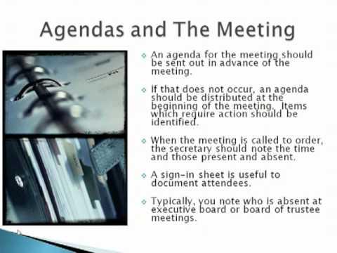 Secretary Training 20111024