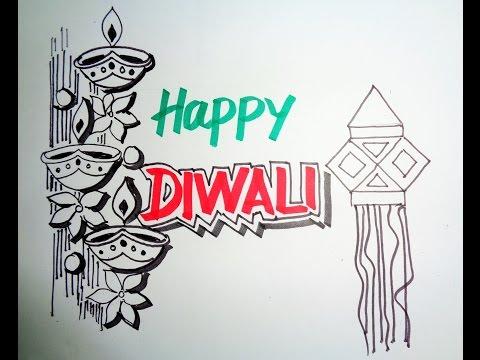 Diwali Speacial - How To Draw Lanterns And Diyaas