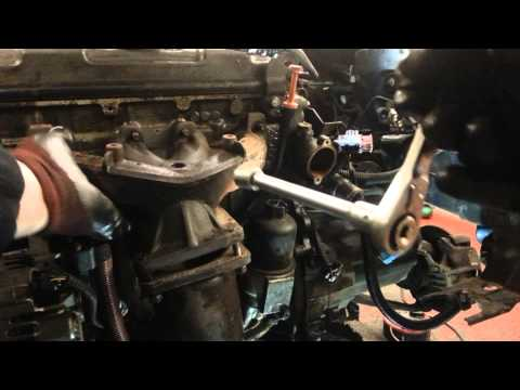 How to Change Replace Exhaust Manifold Peugeot 206