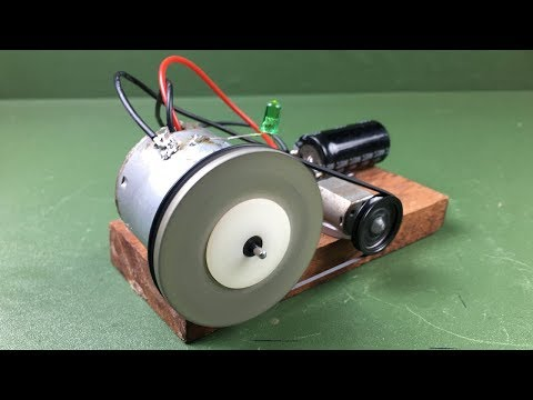 How to Make Free Energy Science Experiment Mini Self Running Machine Using DC Motors