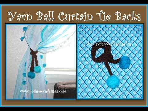 Yarn Ball Curtain Tie Backs