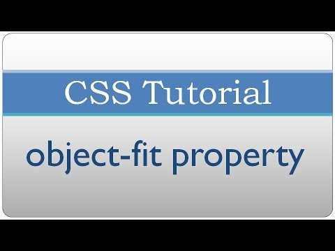 CSS Tutorial 38 - object fit property