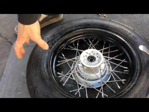 Mounting tubeless tire on spoke wheel Pt.2