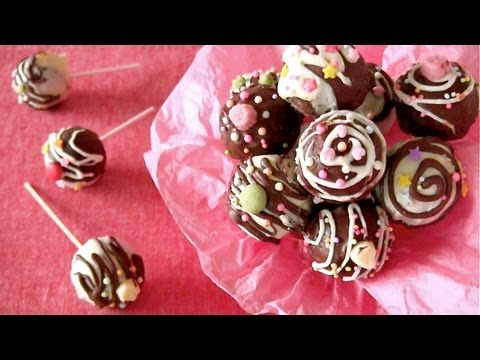 Fudgy Cake Pops (Nordic Ware) ケーキポップ 作り方 - OCHIKERON - CREATE EAT HAPPY