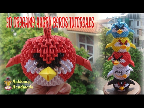 HOW TO MAKE 3D ORIGAMI ANGRY BIRDS | DIY PAPER ANGRY BIRDS TUTORIALS