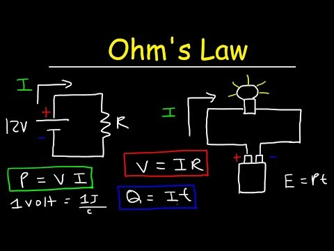 Ohm's Law Explained - Voltage, Current, Resistance, Power - Volts, Amps & Watts - Basic Electricity