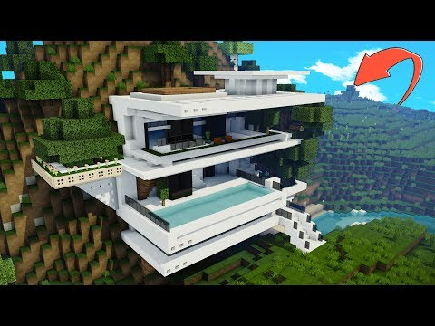 How to Make a MODERN Minecraft CLIFF HOUSE