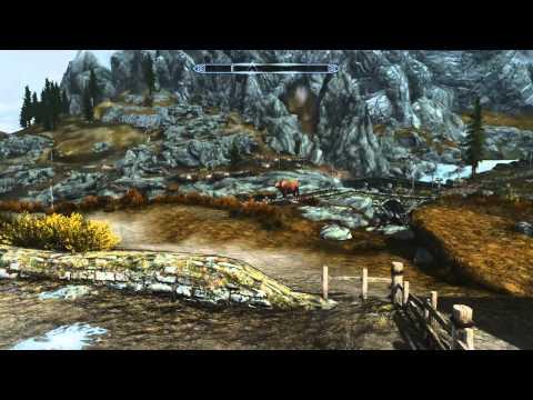 Flying ice cow - Skyrim bug