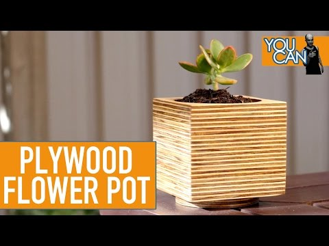 DIY Plywood Flower Pot Using A Hole Saw | You Can