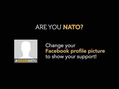 How to use the #WeAreNATO Facebook profile picture frame.