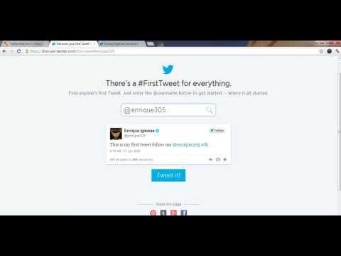 Find anyone's first Tweet